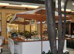 Bar em Cumaru e Tecido Branco